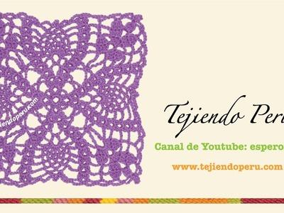 Cómo tejer un cuadrado con hojas a crochet
