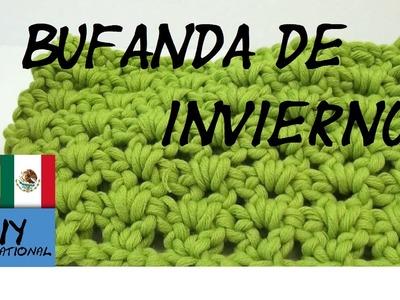 CÓMO TEJER UNA BUFANDA DE INVIERNO -  TUTORIAL DIY