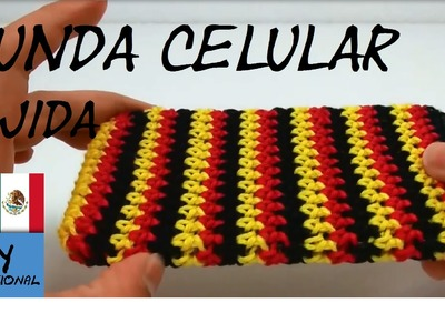 CÓMO TEJER UNA FUNDA PARA CELULAR - FUNDA PARA MOVIL A CROCHET - TUTORIAL DIY
