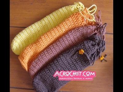 Como tejer una funda para los lentes en crochet