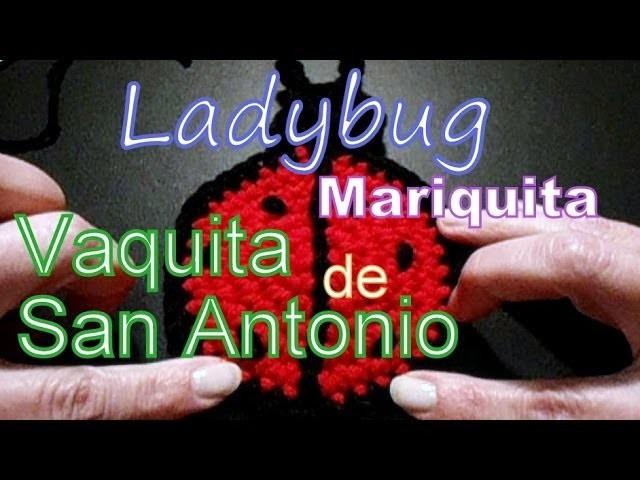 Cómo tejer una vaquita de san antonio (ladybug) al crochet -tejido para zurdos-