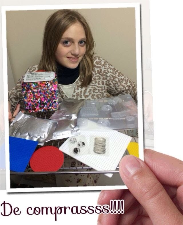 Compras feria creativa.material purchasing Crafts