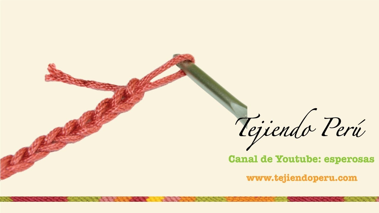 Crochet: cadeneta o cadena de inicio
