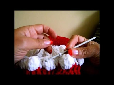 Crochet Cocoon con el diseño del rojo