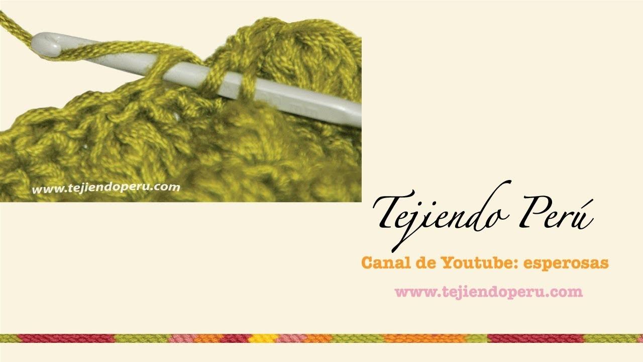Crochet: cómo tejer tomando el bucle de atrás de la cadeneta