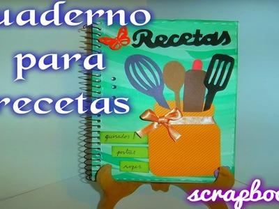 Cuaderno de recetas scrapbook