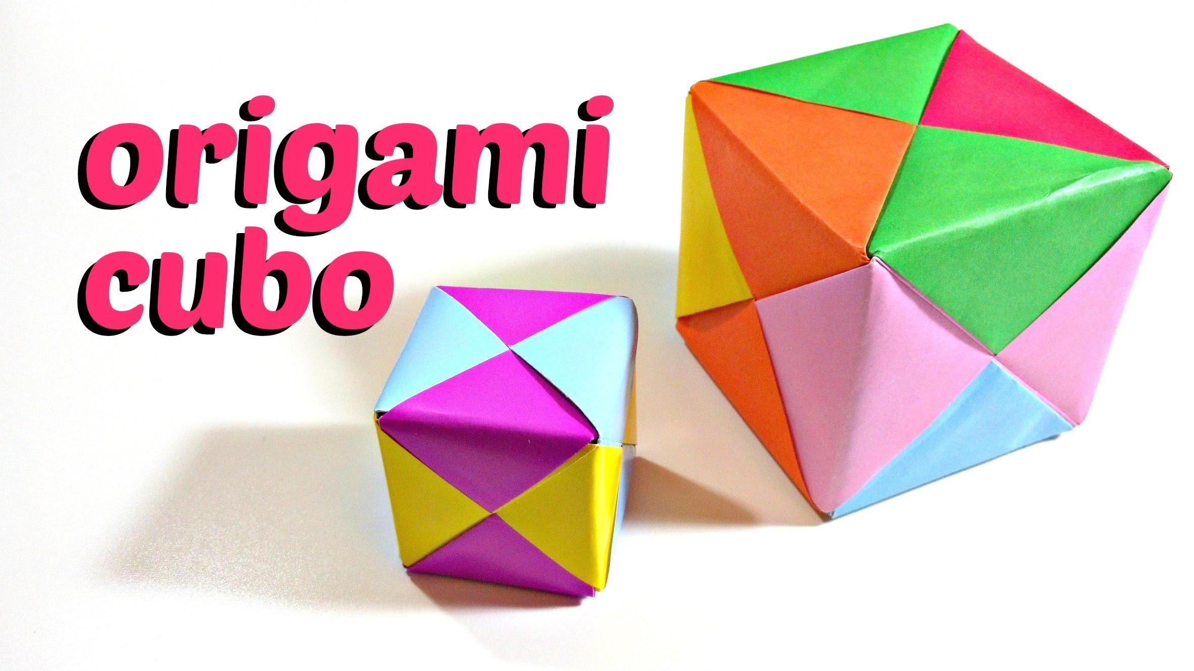 Cubo de Origami - Origami cube | Mundo@Party