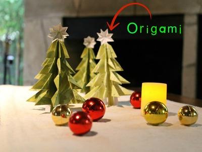 Día de Amigas - Como hacer un árbol navideño en papel - Técnica Origami