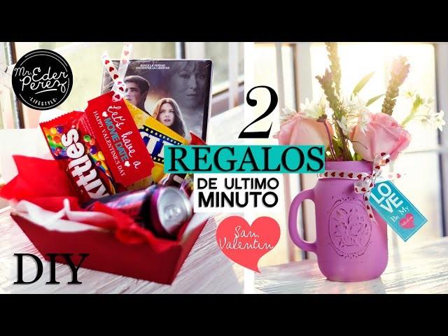 DIY! 2 REGALOS DE ULTIMO MINUTO PARA SAN VALENTIN - IDEAS ORIGINALES
