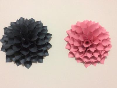 DIY: 3D FLOWER ROOM DECOR