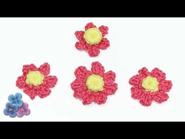 DIY Como Hacer Flores de Crochet Margaritas *How to Crochet a Flower* Flores Amigurumi Pintura Facil