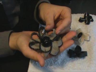 DIY: Como hacer un Broche Flor con 1 cremallera