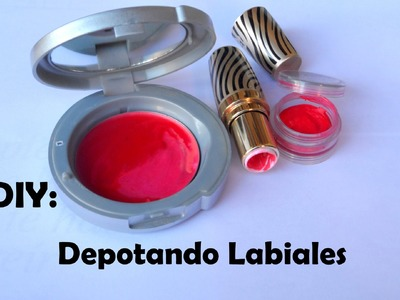 DIY depotando labiales (depotando lip lip palette )