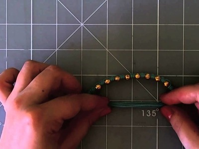 DIY Double Simple knot bracelet - Pulsera nudo simple doble