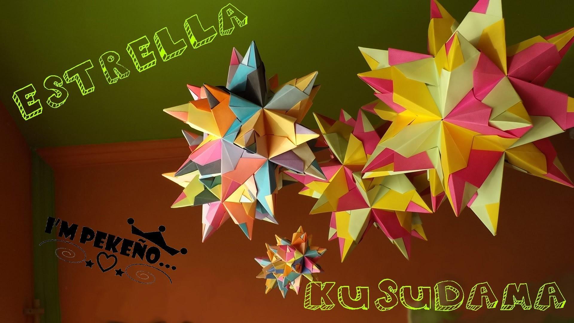 DIY-Estrella Origami Tutorial - Pekeño ♥