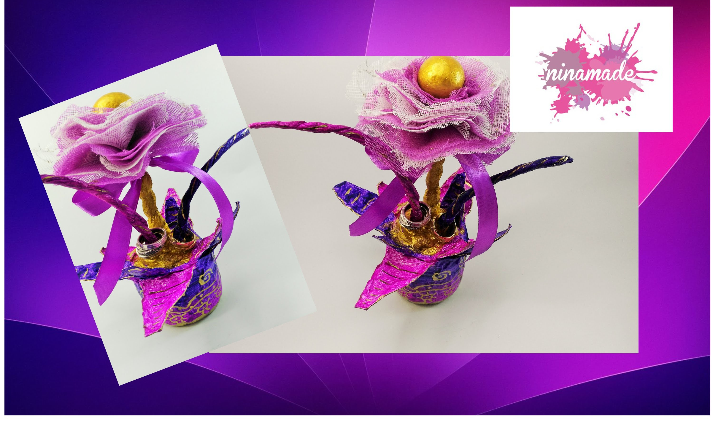 DIY. Flor Porta anillos.Idea para el Día de la Madre.  Rings holder.Mother's day