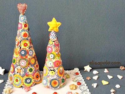 DIY, Manualidades para Navidad, Cómo hacer un Árbol de Navidad. Christmas Tree Crafts