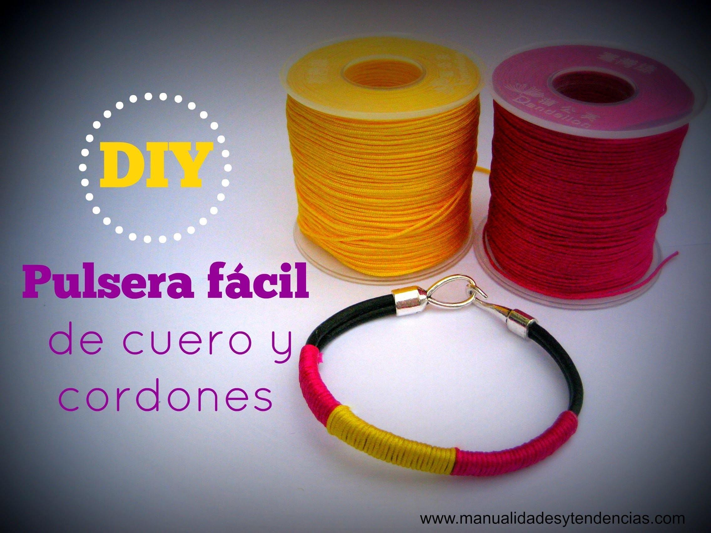 DIY pulsera de cuero. leather bracelet