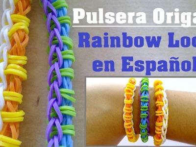 DIY Pulsera de gomitas Origami - Rainbow Loom en Español