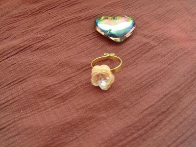 DIY, Tutorial de anillo con rosa de lentejuela