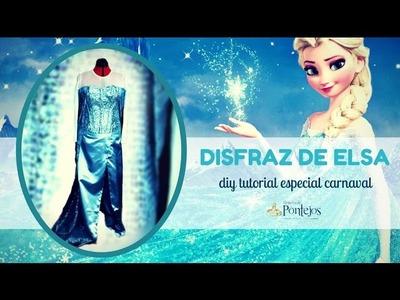 [DIY TUTORIAL] DISFRAZ DE CARNAVAL DE ELSA - FROZEN
