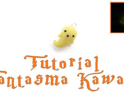Fantasma Kawaii Halloween.DIY TUTORIAL ARCILLA POLIMERICA