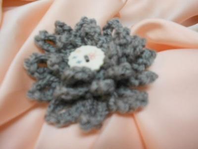 Flor # 4 Cadenas Crochet