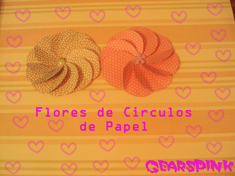 ►► ✂ Flor de Circulos de Papel ✂ ◄◄