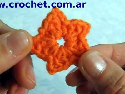 Flor N° 18 en tejido crochet tutorial paso a paso.