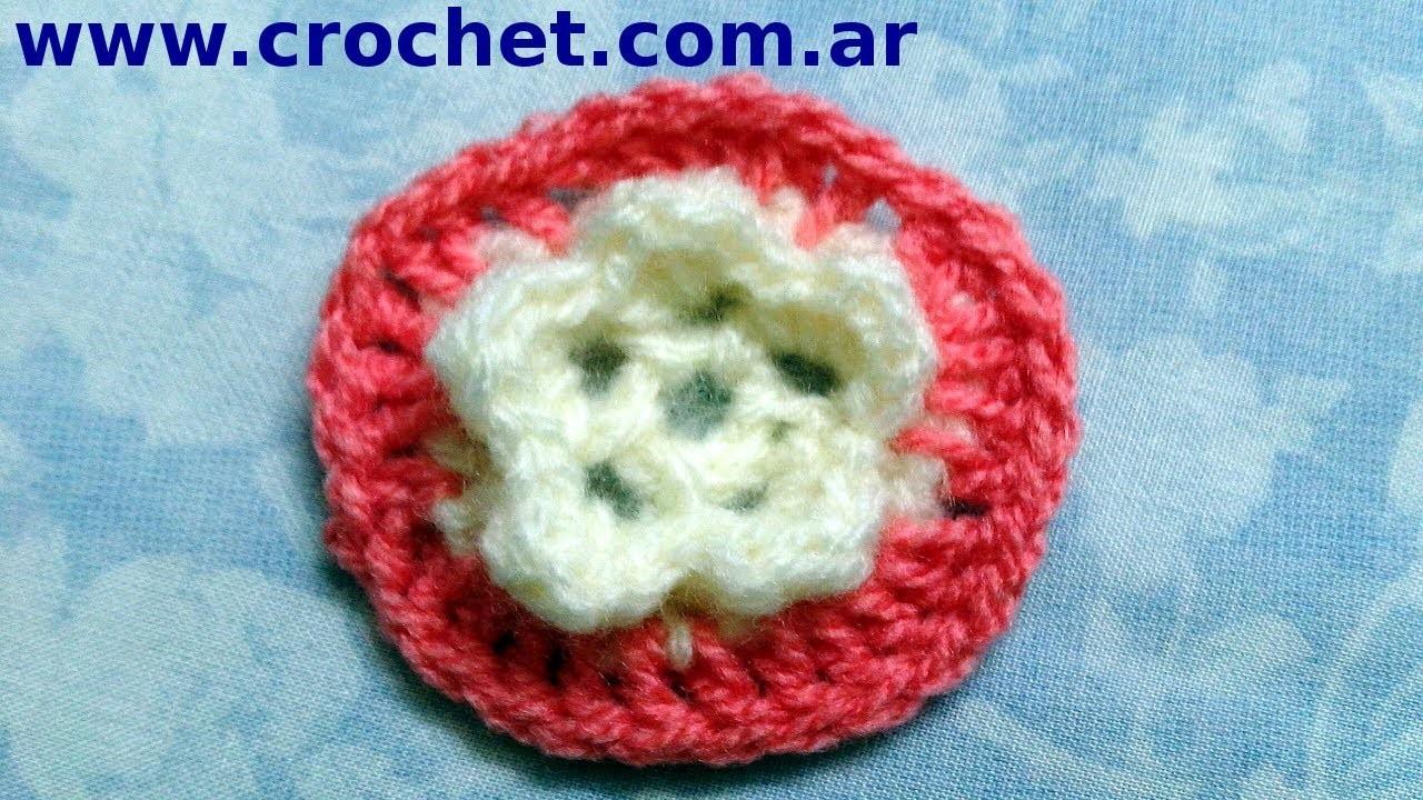 Flor N° 5 en tejido crochet tutorial paso a paso.