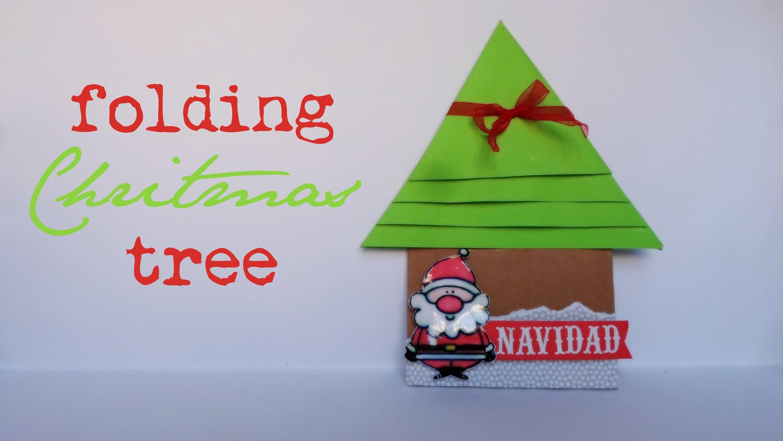Folding Christmas Tree || Scrapbook || (Navidad)