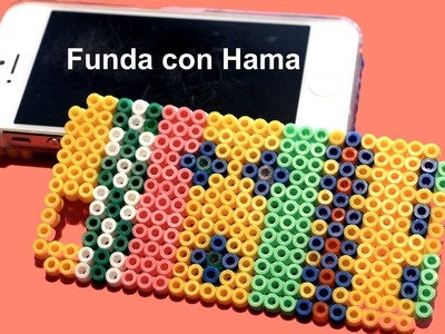 Funda de móvil con Hama. Hama perler beads ideas