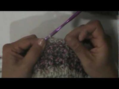 Gorra en punto relieve a crochet parte 5