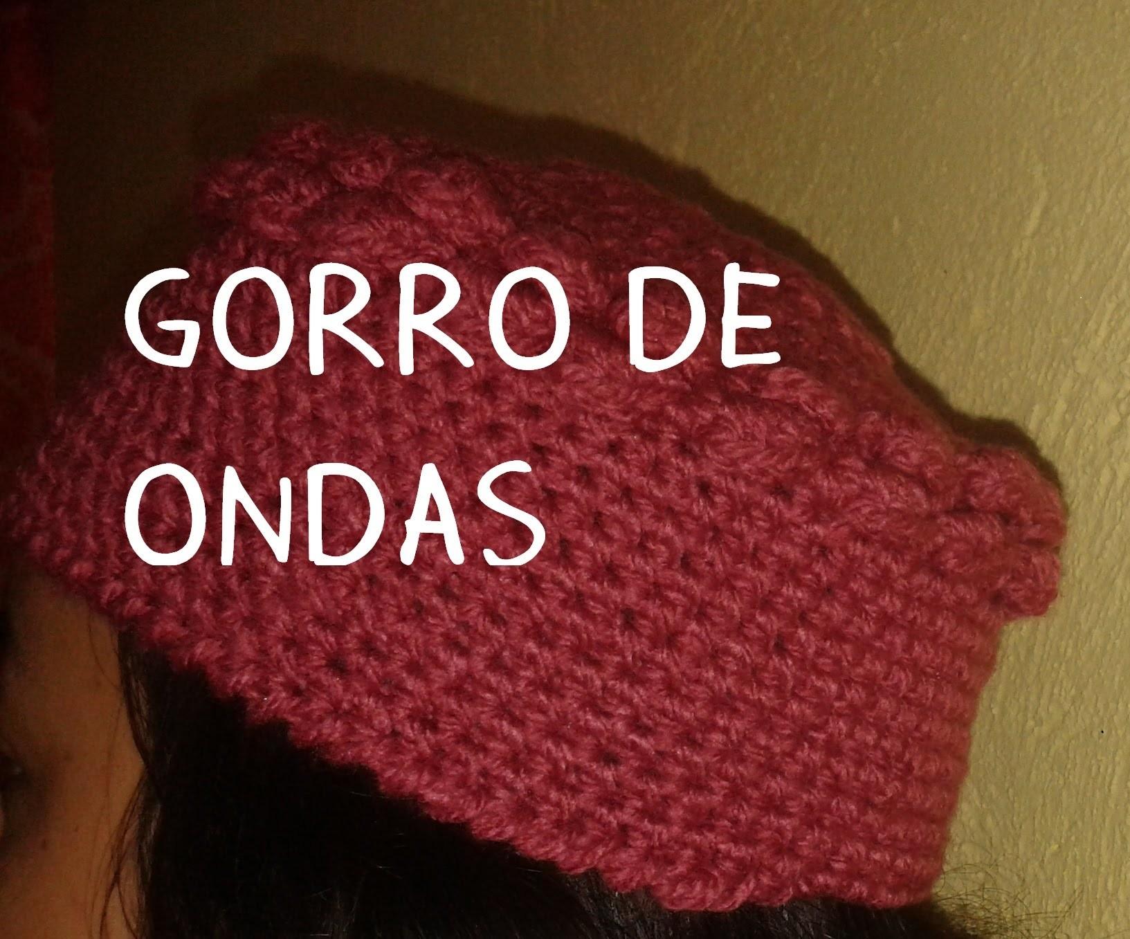 GORRO DE ONDAS A CROCHET