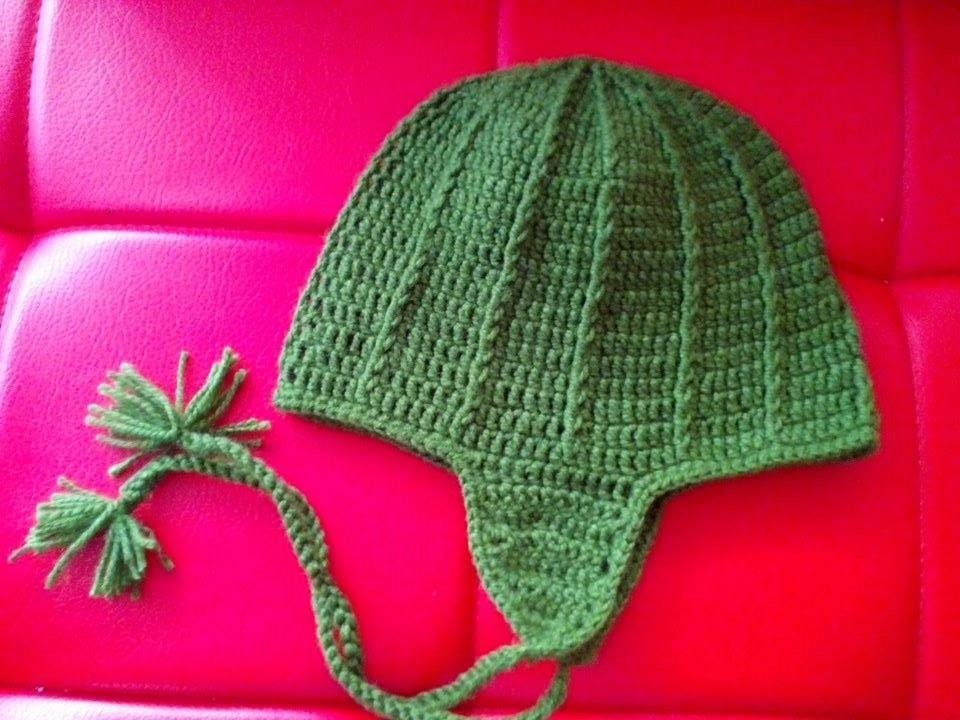 Gorro Tejido En Crochet Para Hombre
