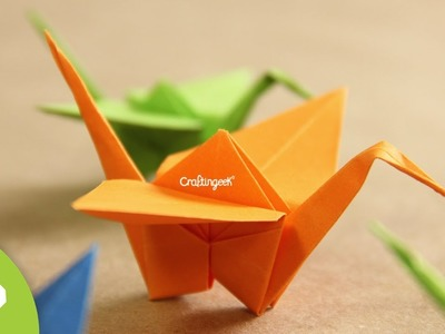 Grulla de Origami - ¡Decora tu espacio!  [Origami Crane how to]