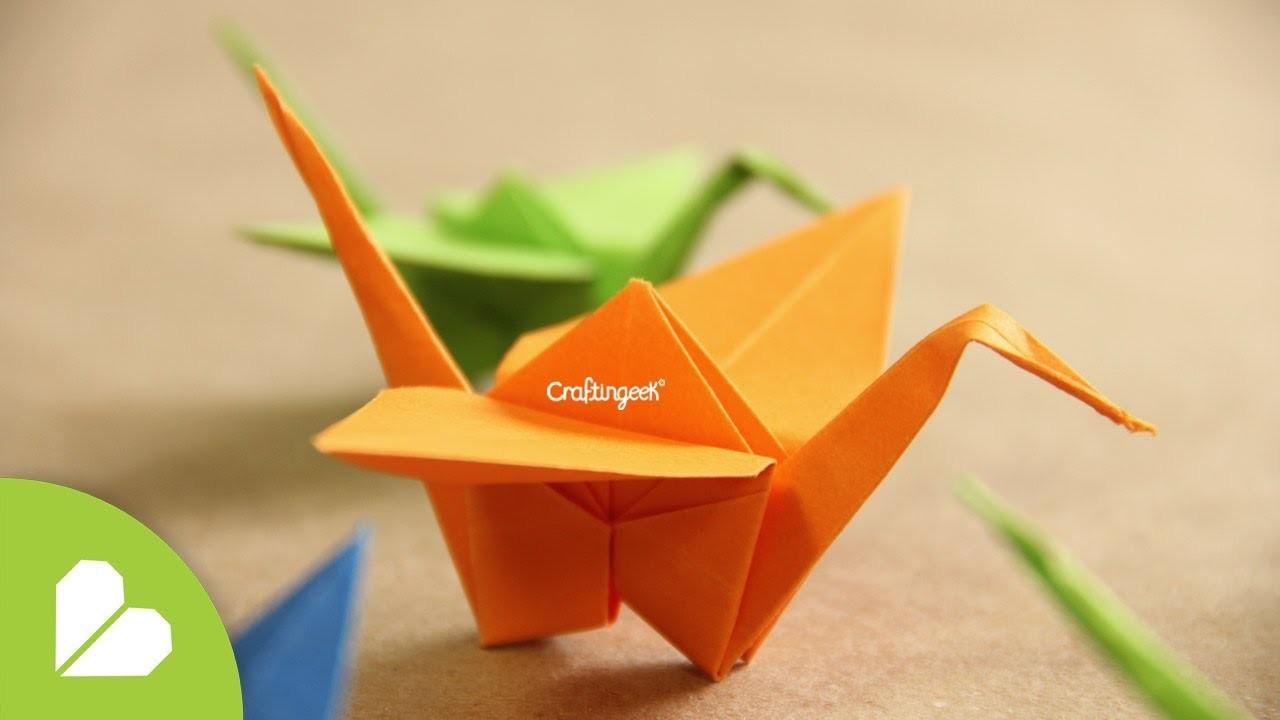 Grulla de Origami - ¡Decora tu espacio!  [Origami Crane how to]