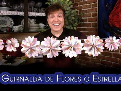 Guirnalda de Flores o Estrellas Origami Facilisimos