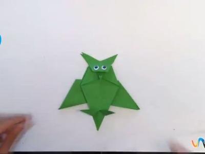 Hacer un buho de origami