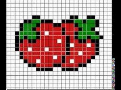 Hama beads-fresa