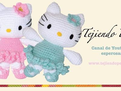 Hello Kitty tejida a crochet (amigurumi)  Parte 6: flor de adorno