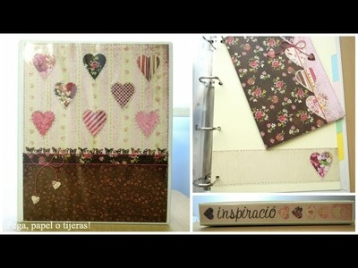 Manualidades para la vuelta al cole: Cómo decorar un archivador. Tutorial scrapbook
