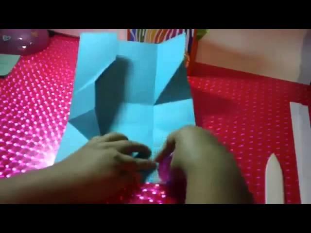 MANUALIDADES para regalar, bolsa de regalo scrapbook muy fácil