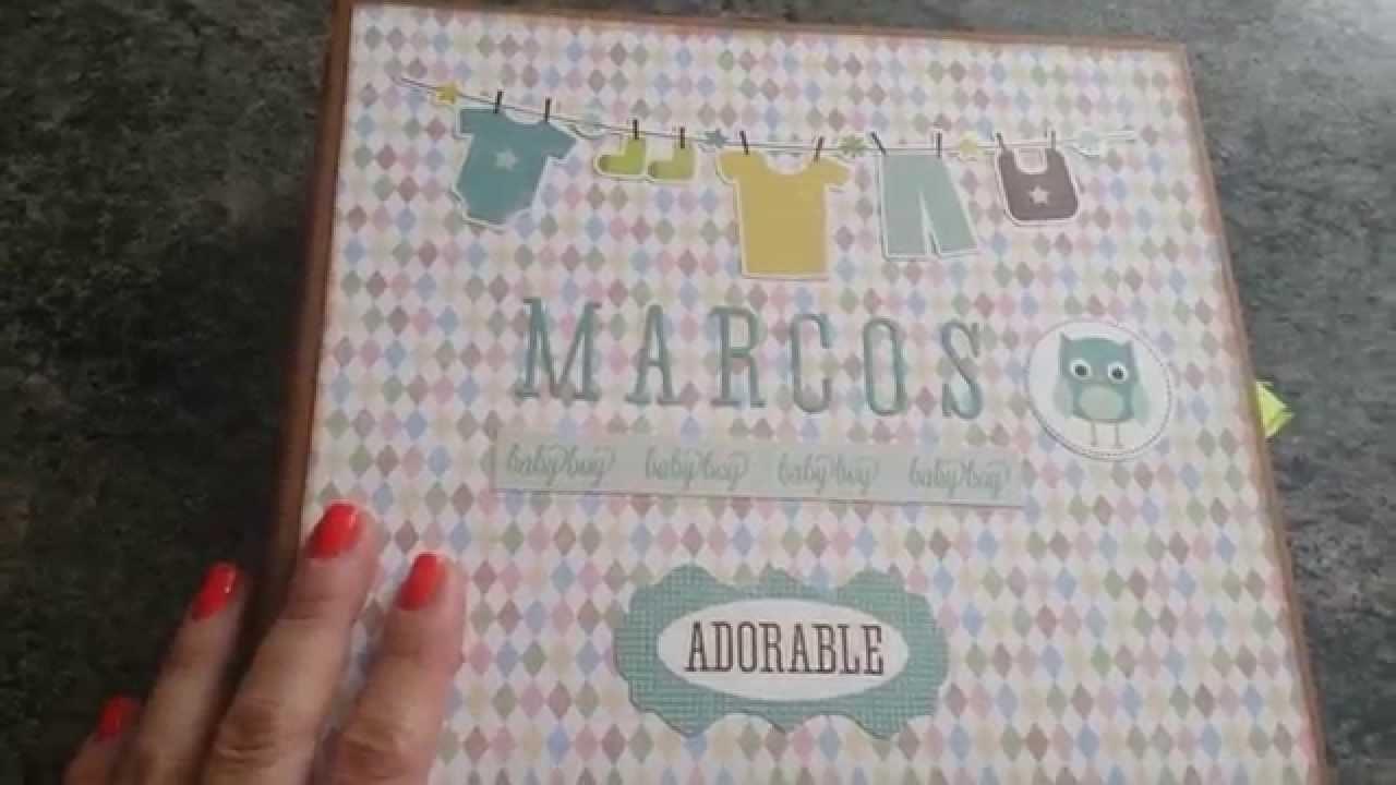 Mini album scrapbook bebé Marcos