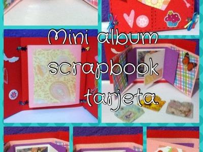 Mini album tarjeta scrapbook para san valentin ~ alilai sha