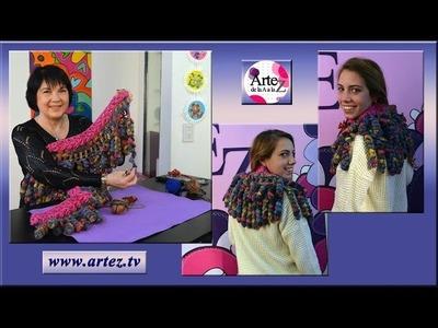Mira cómo hacer una bufanda con tejido crochet
