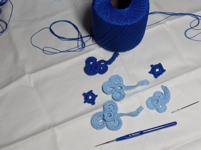 Motivo de Trebol paara Encaje Irlandes a crochet