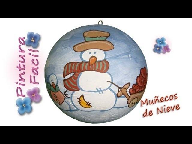 Muñecos de Navidad Para Pintar 1 *Snowman Crafts* Esferas Navideñas Navidad 2014 Pintura Facil