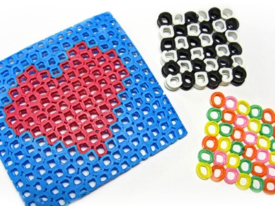Muñecos hechos con pajitas (Hama Beads). Figures made with straws.