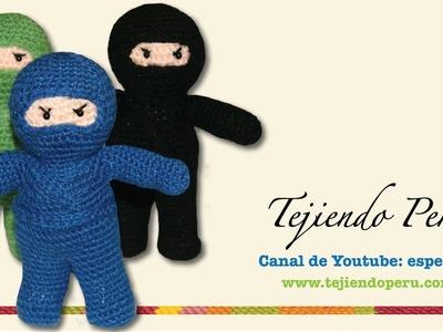 Ninja amigurumi tejido a crochet (Parte 2)